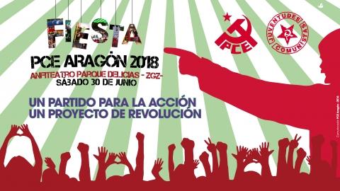La Fiesta anual del PCE Aragón se celebra este sábado en el Anfiteatro del Parque Delicias de Zaragoza