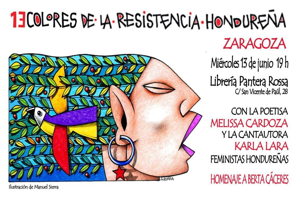 Presentación poética y musical del libro '13 colores de la resistencia hondureña' en homenaje a Berta Cáceres