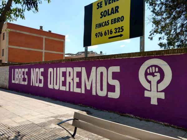 muro feminista 8m ribera alta
