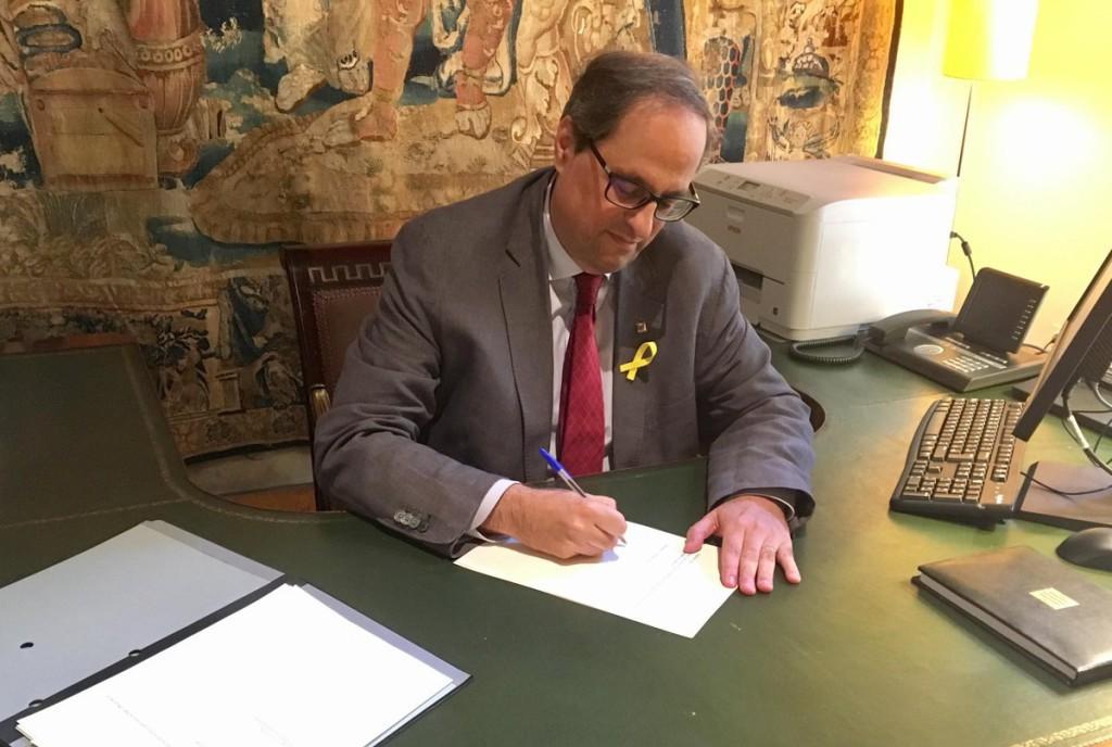 El Diari Oficial de la Generalitat de Catalunya publica el nombramiento del nuevo Govern