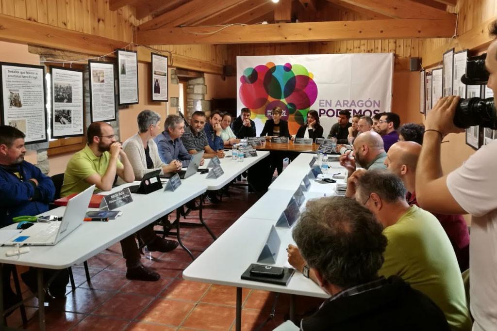 Yesa, Mina Muga y el Polígono de Bardenas temas principales en la reunión entre Podemos Aragón y Podemos Nafarroa