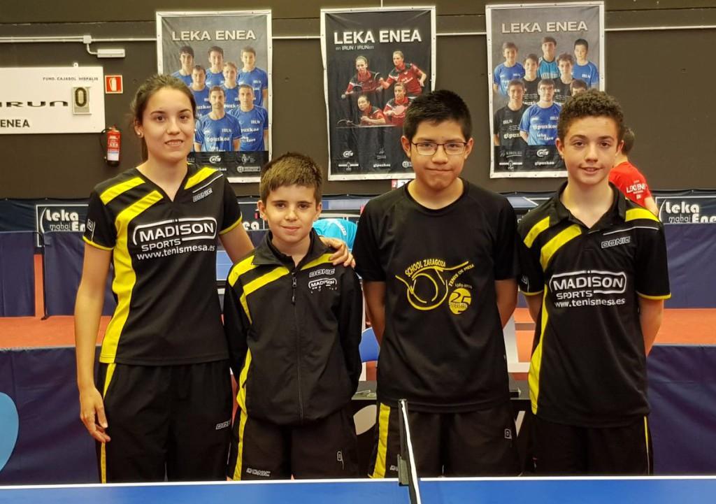 Buena actuación aragonesa en el Top 8 del Circuito de Jóvenes Zona Norte de tenis de mesa