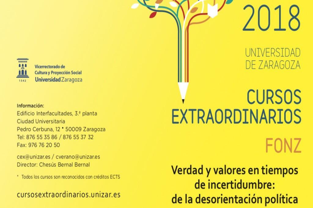 Últimos días para matricularse en el Curso Extraordinario de la Universidad de Zaragoza sobre política en Fonz