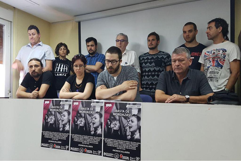 Sindicatos y organizaciones sociales aragonesas muestran su solidaridad con la periodista Verónica Landa