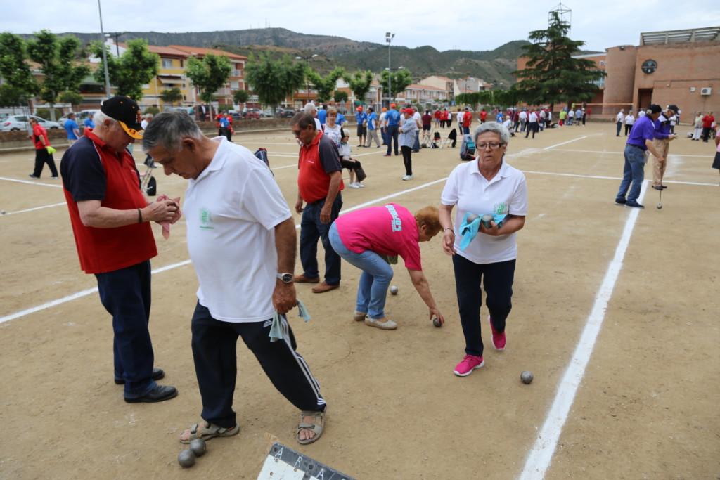 Una tripleta de Casp se hace con la victoria en el XXII Encuentro de Petanca de Mequinensa