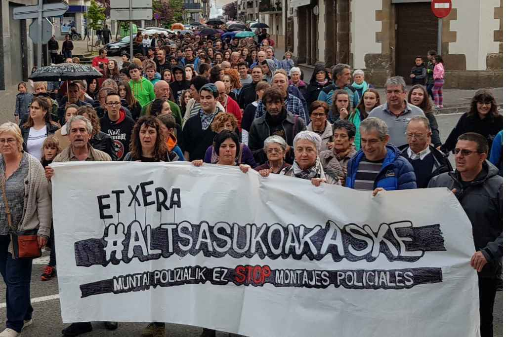 Euskal Herria se echa a la calle en protesta por la detención de los cuatro jóvenes de Altsasu