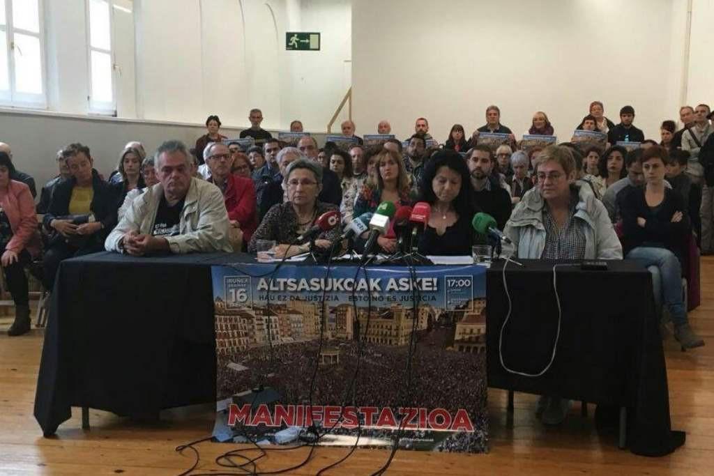 La manifestación contra la sentencia del caso de Altsasu se prevé multitudinaria