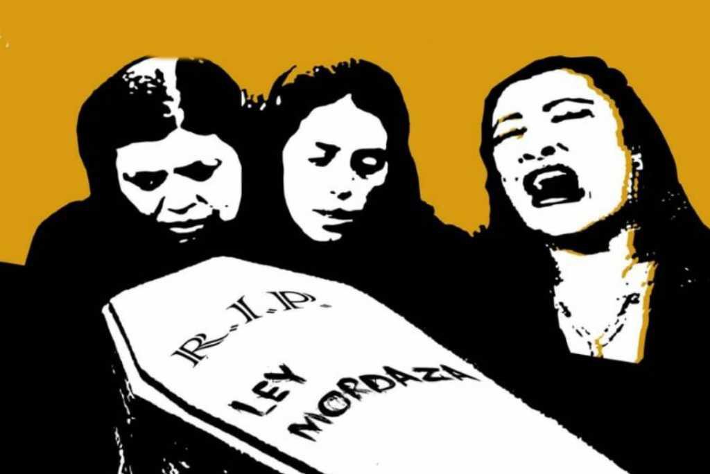 El colectivo de artistas por la libertad de expresión contra la Ley Mordaza en Madrid