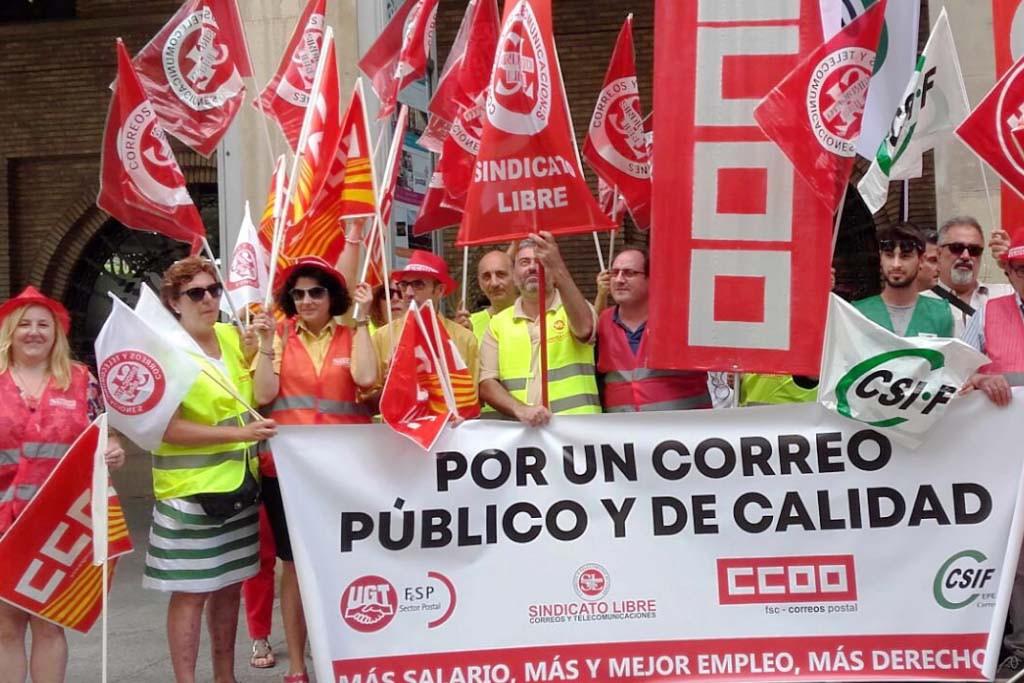 Los sindicatos anuncian un otoño caliente en Correos