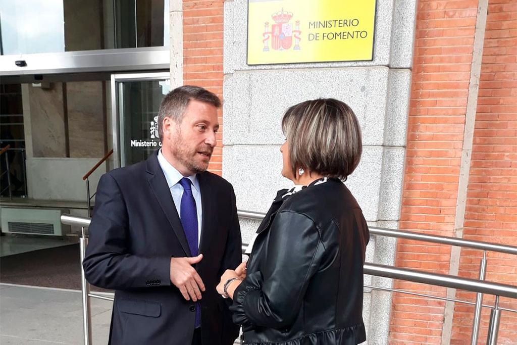 Soro traslada al Ministro Ábalos algunas reivindicaciones de Aragón en infraestructuras, vivienda y movilidad