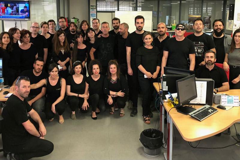 La plantilla de Chip Audiovisual afronta su segundo 'jueves negro'