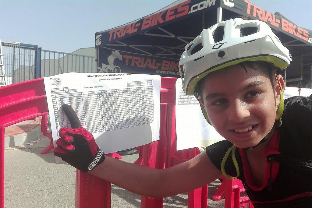 El mequinenzano Poldo Sillué tercero en el Campeonato Estatal de Trial disputado en Azuqueca de Henares