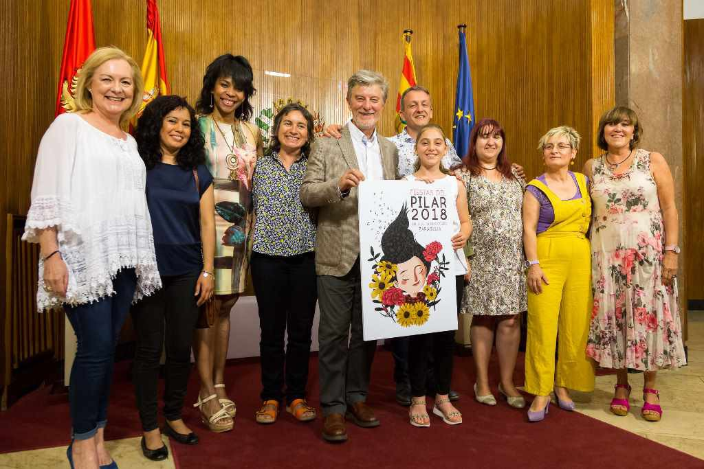Las luchas de siete mujeres de Zaragoza en el pregón de las Fiestas del Pilar 2018