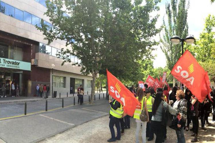 'Treballando per a dignidat laboral. Luitando per Aragón', el nuevo lema de SOA