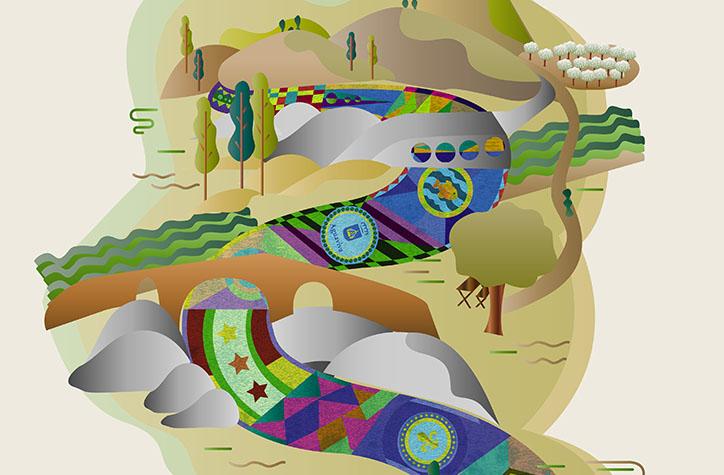 Un 'Paisaje de colores' anunciará las Alfombras del Santísimo Misterio de Aguaviva
