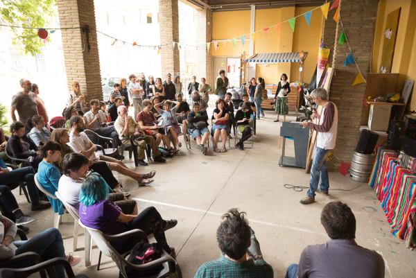 Presentación de La Comunidaria el pasado 26 de mayo en el CSC Luis Buñuel de Zaragoza. Foto: Pablo Ibáñez