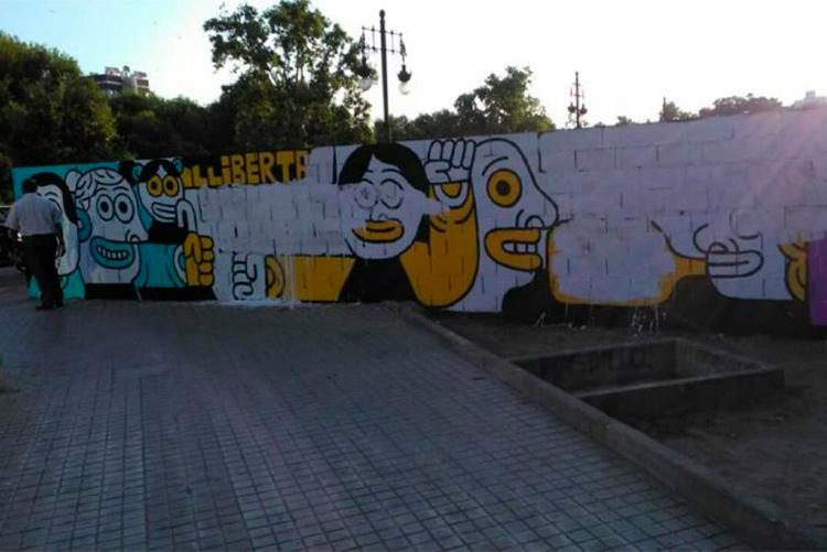 La ultraderecha valenciana ataca un mural que denunciaba la sentencia de los jóvenes de Altsasu