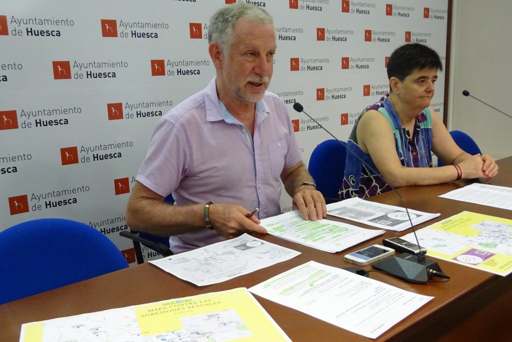 El Ayuntamiento de Uesca lanza un mapa contra las agresiones machistas para fiestas