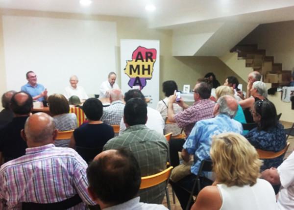 Homenaje a Martín Arnal celebrado en Angües. Foto: Juan Mérida