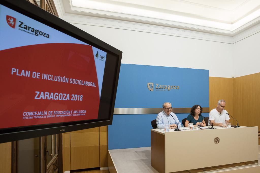 El Ayuntamiento de Zaragoza refuerza en un 8,8% el Plan de Inclusión Sociolaboral
