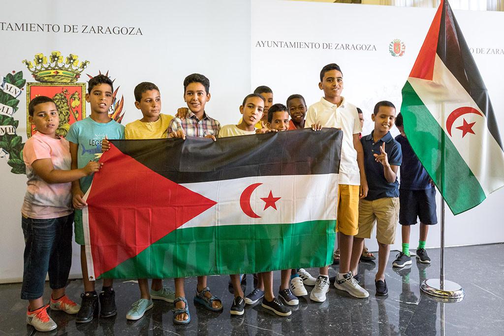 Zaragoza recibe a los niños y niñas saharauis de Vacaciones en Paz