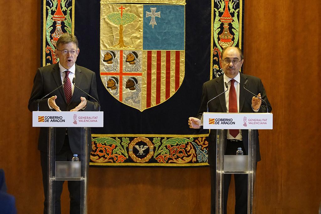 Aragón y València reclaman más inversiones del Gobierno español en el ramal Sagunt-Teruel-Zaragoza