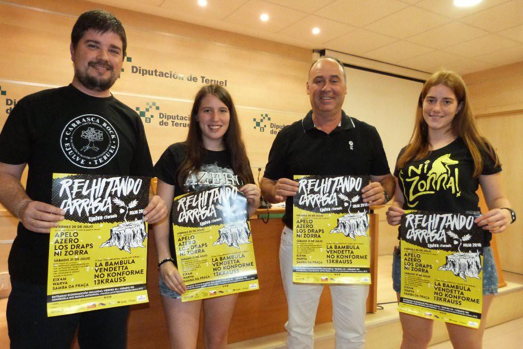 El Carrasca Rock vuelve a Exulv para promocionar la música aragonesa