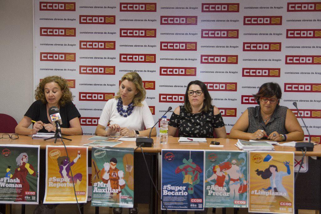 CCOO lanza una campaña contra la precariedad laboral en verano