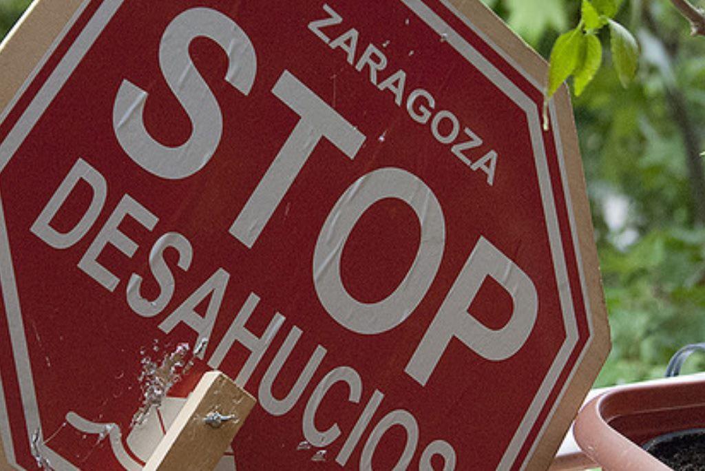 Paralizado un desahucio en el barrio zaragozano de San José