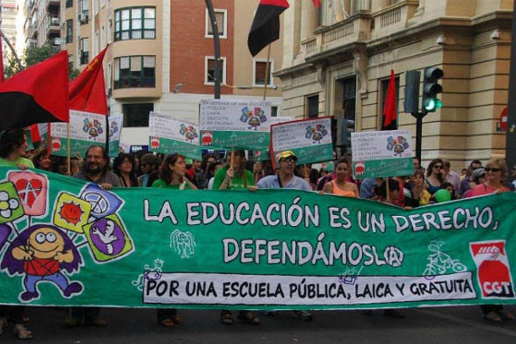 CGT apoya y pide celeridad en los cambios anunciados en la LOMCE por el Gobierno de Pedro Sánchez