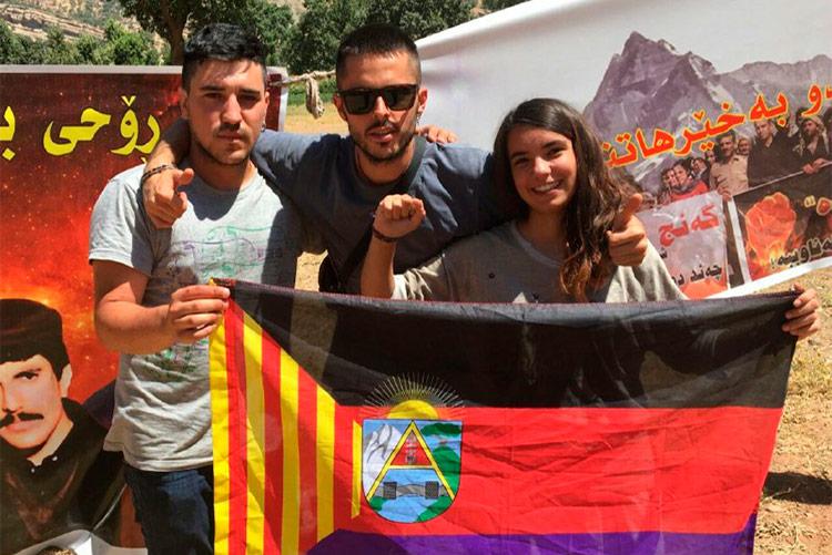 Tres jóvenes de Aragón participan en la campaña de escudos humanos en defensa de Kurdistán del Sur