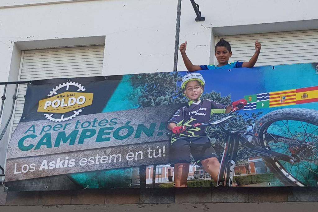 Poldo Sillué viaja a Italia para participar en los Juegos Mundiales de la Juventud de Trial UCI