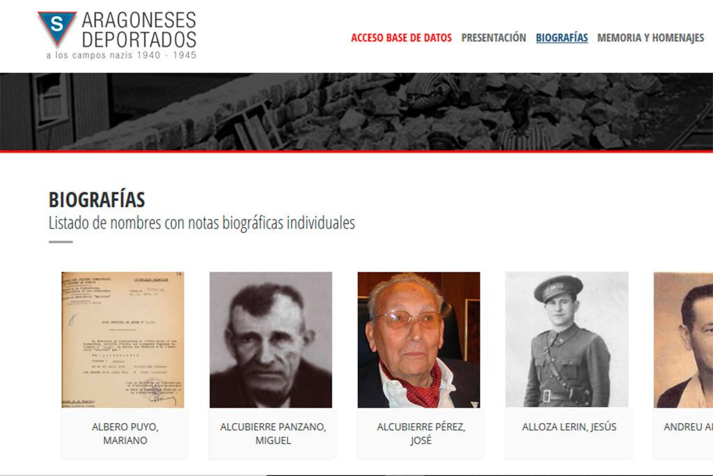 'Aragoneses deportados', la web que recoge la historia de las más de mil personas internadas en campos nazis