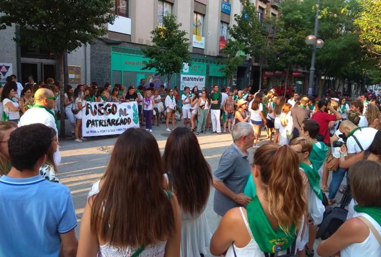"""La militancia feminista de Uesca exige la """"inmediata paralización"""" de las Fiestas de San Lorenzo"""