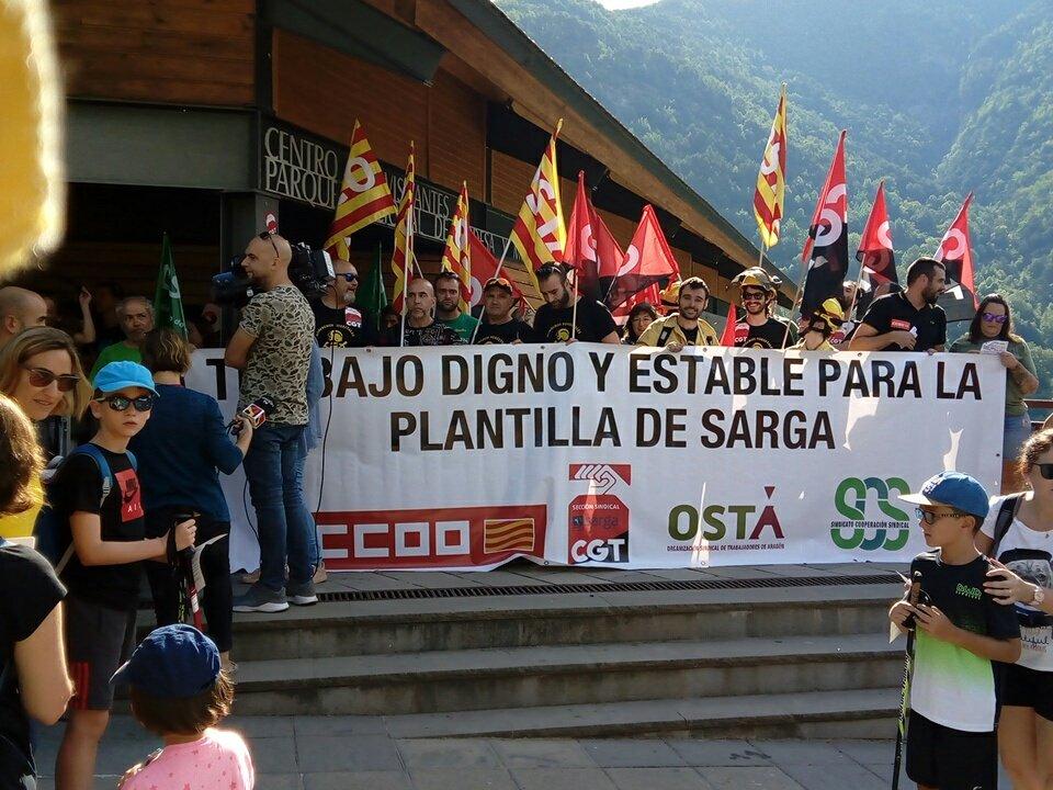 """Sindicatos en Sarga advierten que """"al Gobierno de Aragón no le importa desproteger el monte"""""""