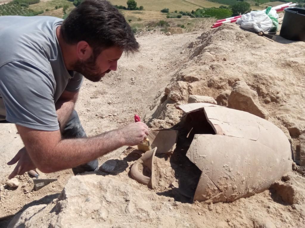 Finaliza la excavación arqueológica en la ciudad celtibérica de Bursau con una jornada de puertas abiertas