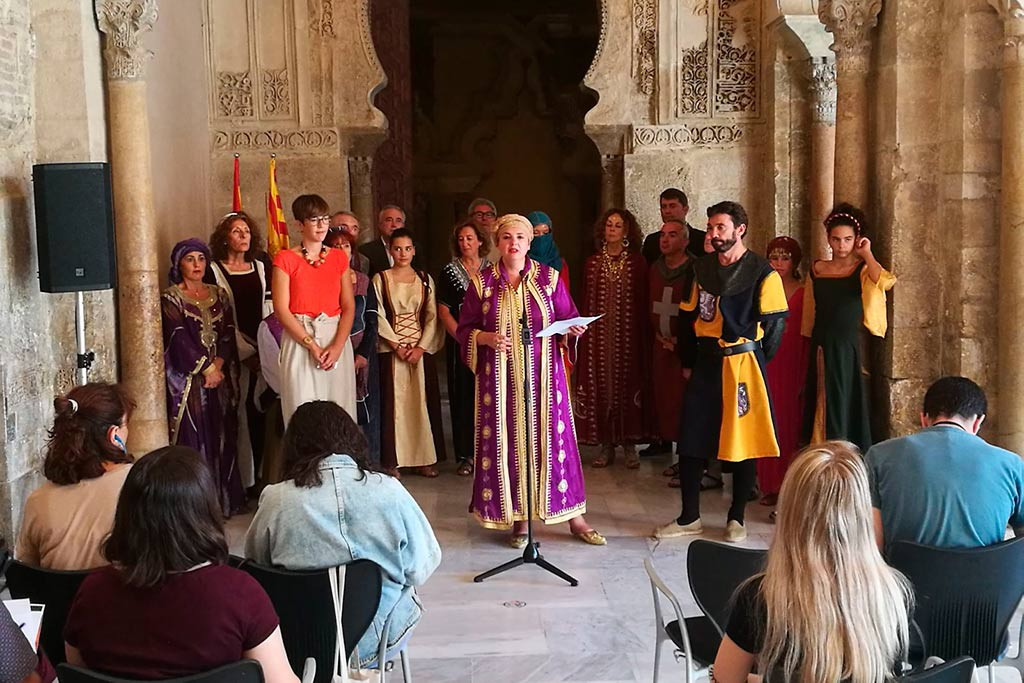La Morisma llega hasta la Aljafería de Zaragoza para celebrar sus 20 años como Fiesta de Interés Turístico