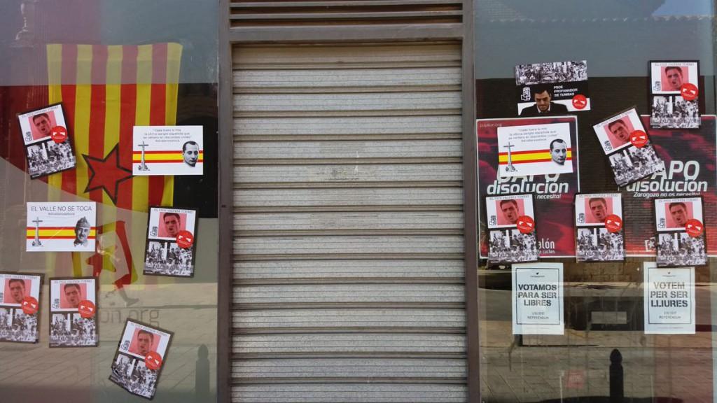 Nuevo ataque fascista en Zaragoza contra las sedes de ZeC, Podemos, PSOE, Puyalón, CGT y CNT