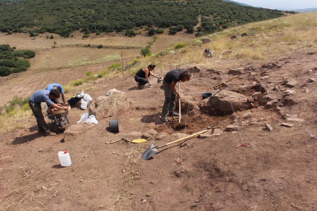 Jornada de puertas abiertas en la excavación arqueológica del 'Cerro del Calvario' en Tagüenca/Tabuenca