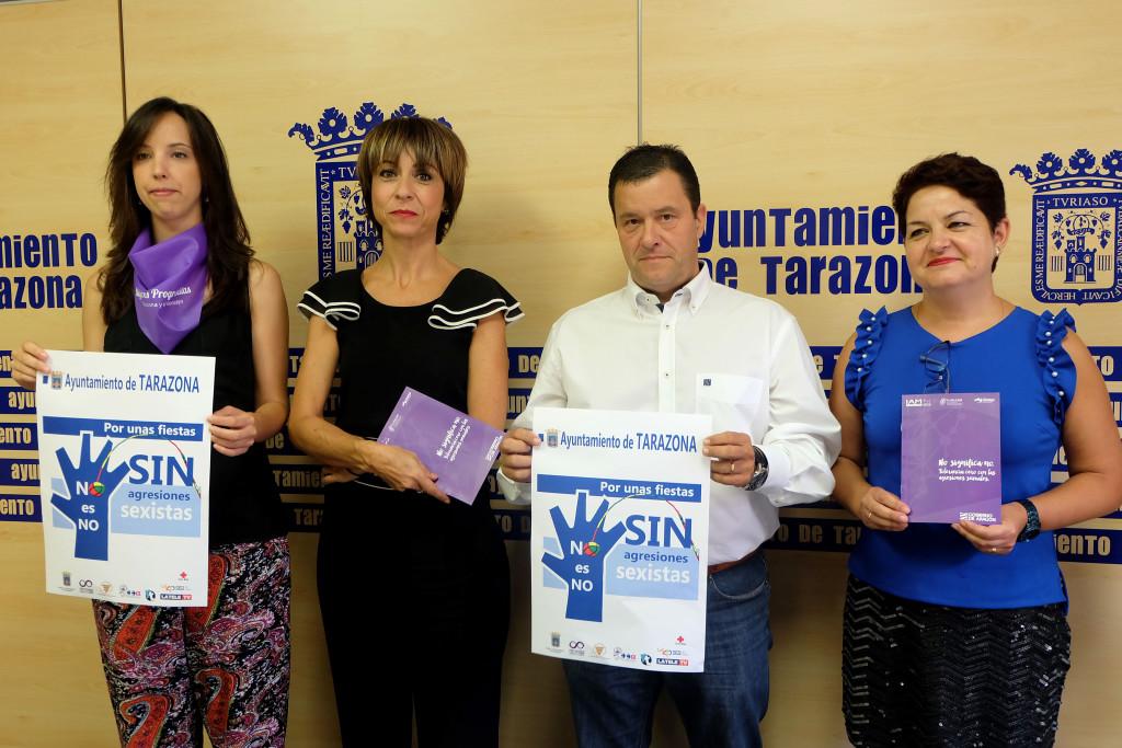 Tarazona lanza una campaña contra las agresiones machistas durante sus fiestas