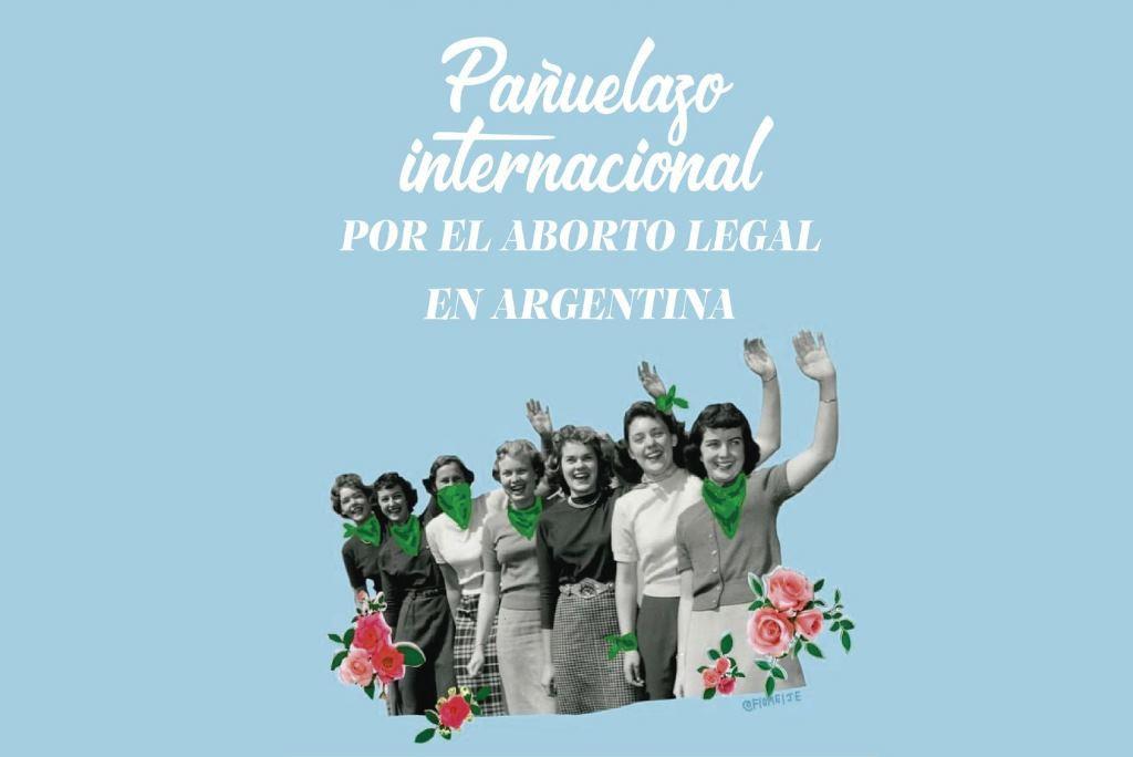 El movimiento feminista de Aragón se suma a la campaña internacional en apoyo al aborto legal en Argentina