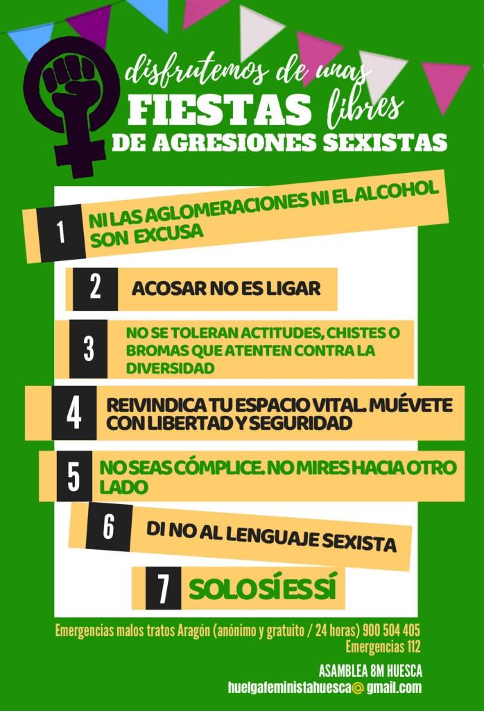 Foto: Asamblea 8M Huelga Feminista Huesca