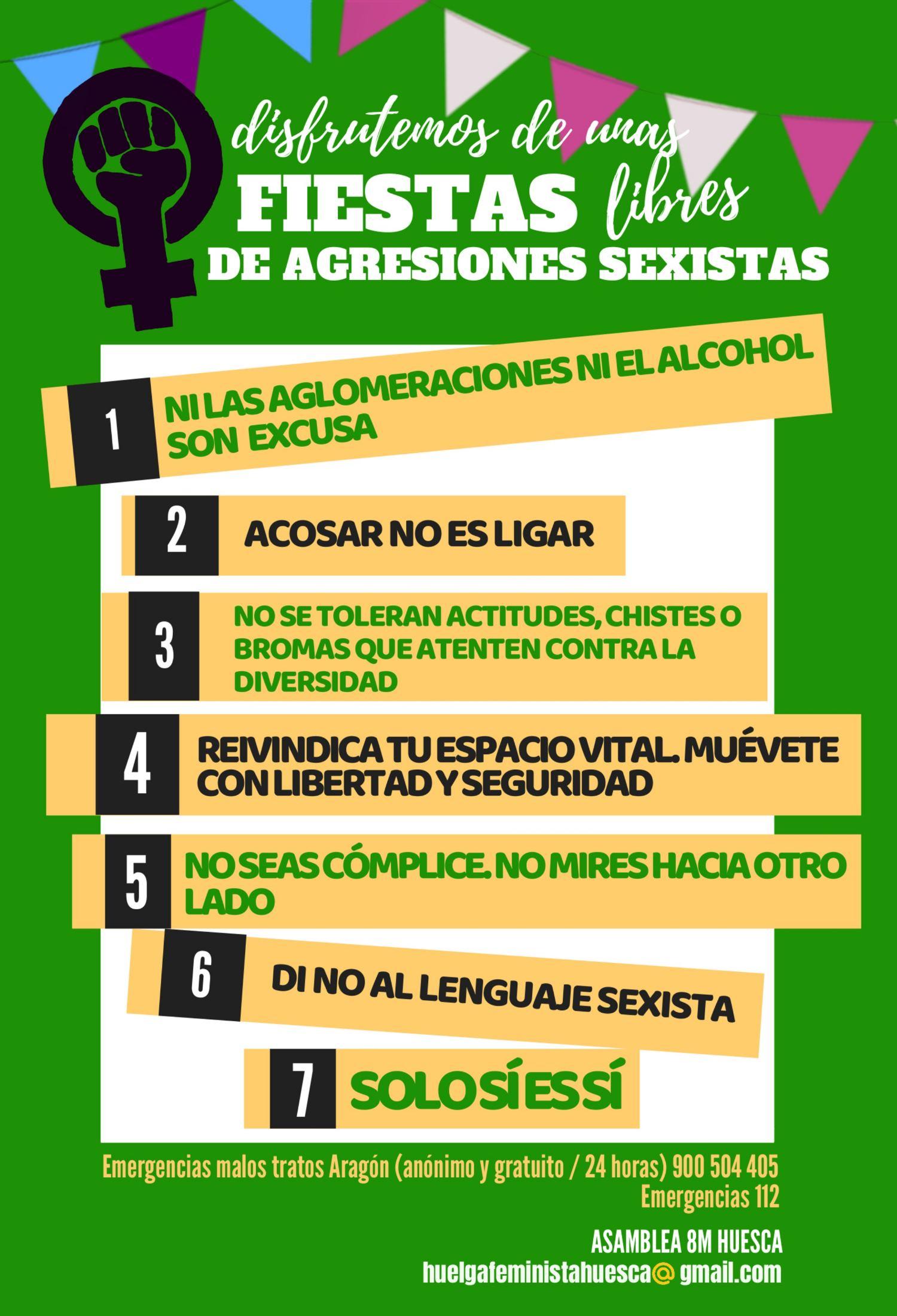 Colectivos feministas de Uesca lanzan un protocolo contra agresiones ...