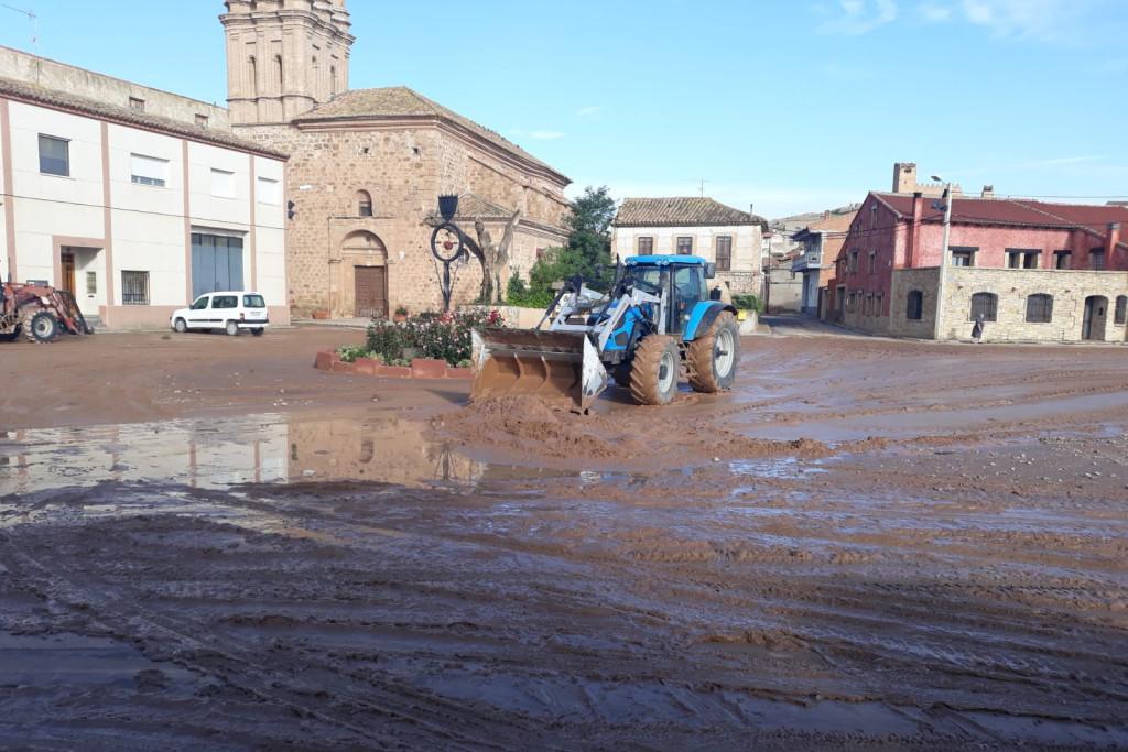 La localidad de Alba reclama una reunión con la CHE para poner remedio a las constantes inundaciones de su casco urbano