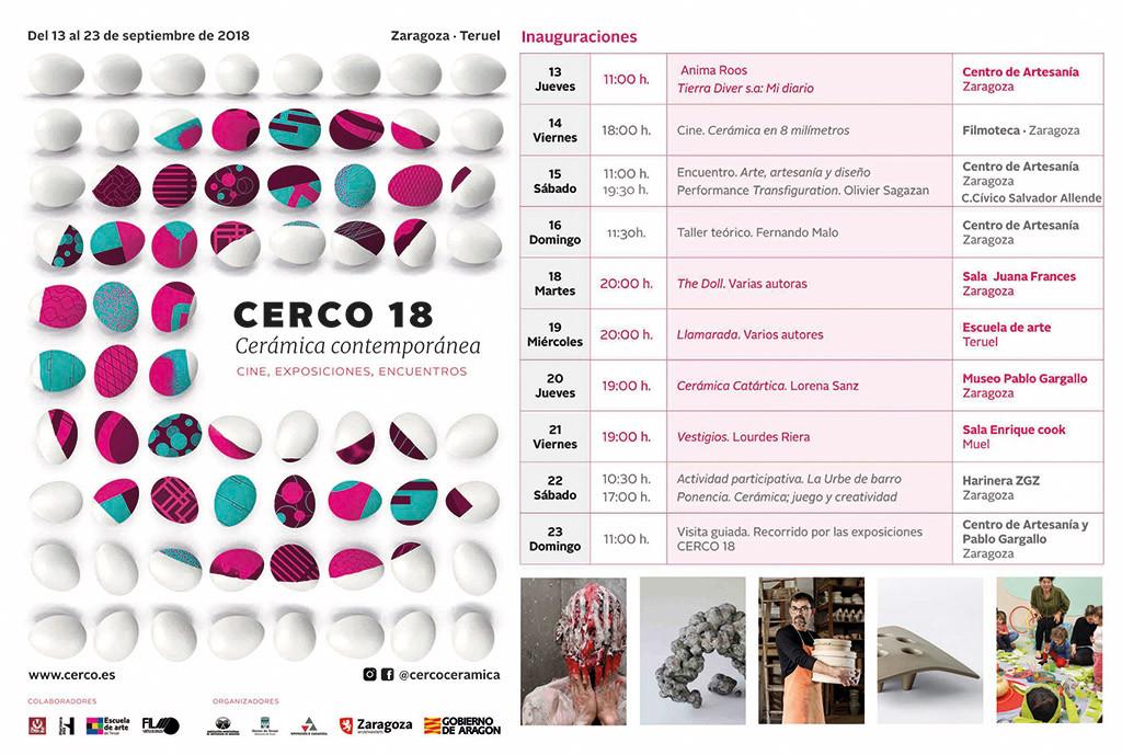 Zaragoza, Muel y Teruel acogen el XVIII Certamen Internacional de Cerámica Contemporánea (CERCO)