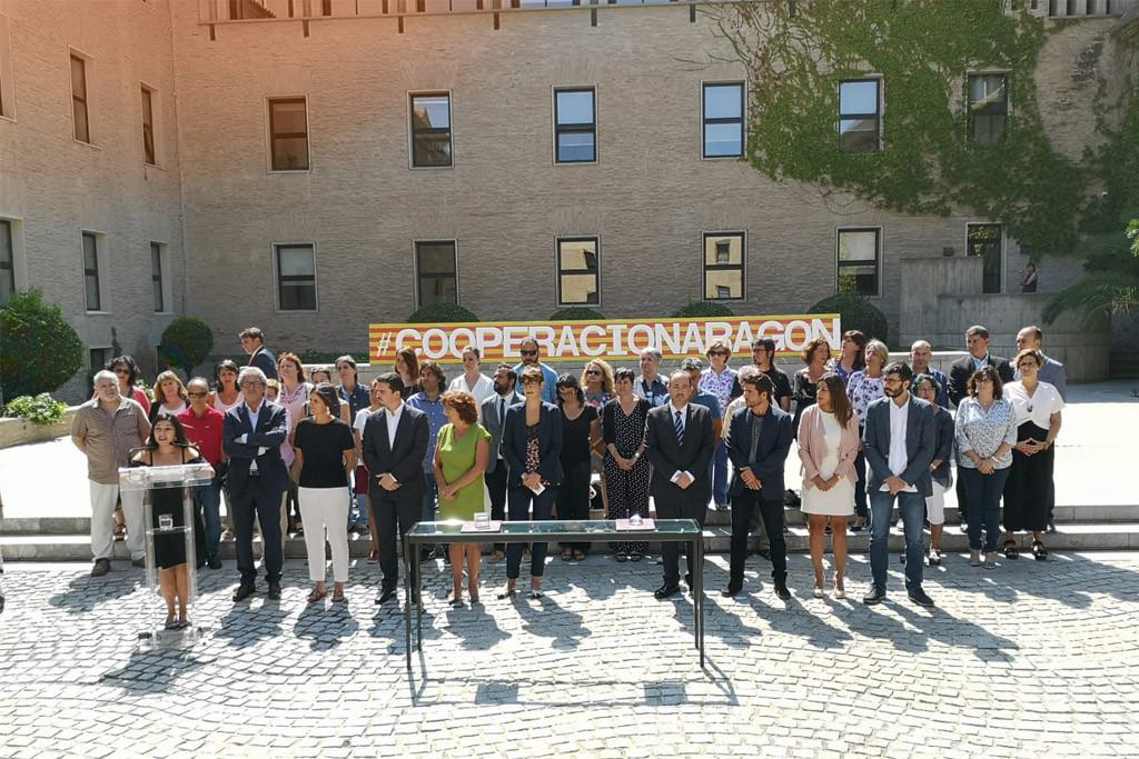 Las Cortes de Aragón firman el primer Pacto Aragonés por la Cooperación al Desarrollo