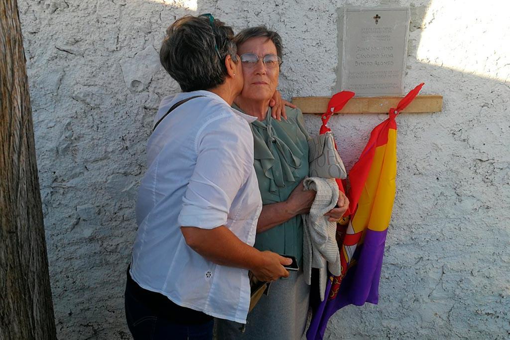 Aladrén rinde homenaje a Juan Moreno y Benito Alonso, fusilados por escapar del bando sublevado