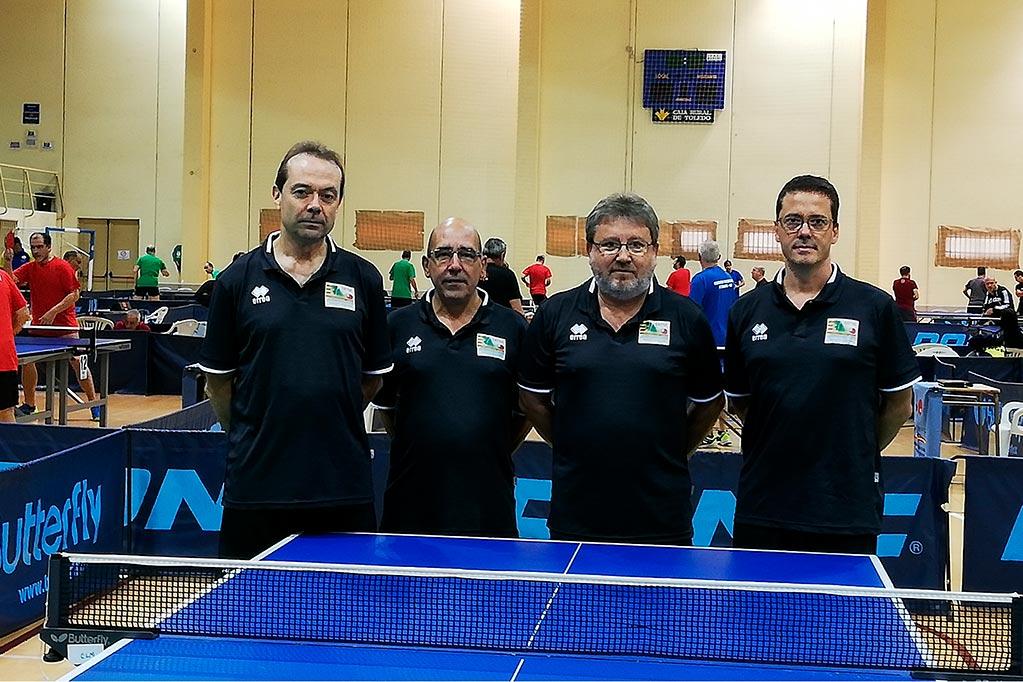 La selección aragonesa de veteranos de tenis de mesa consigue el octavo puesto del Interterritorial