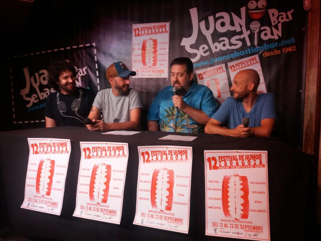 La comedia se cita en el Juan Sebastian Bar con una nueva edición del Festival del Humor de Zaragoza