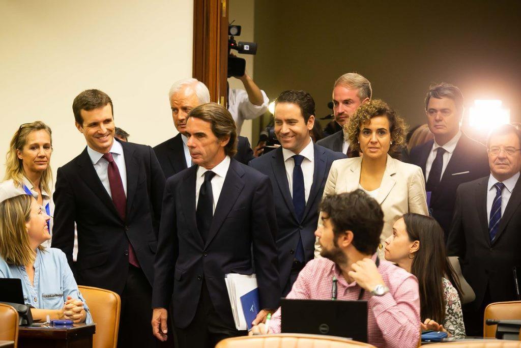 Aznar niega todo vínculo con la trama corrupta del PP atacando a las formaciones rivales